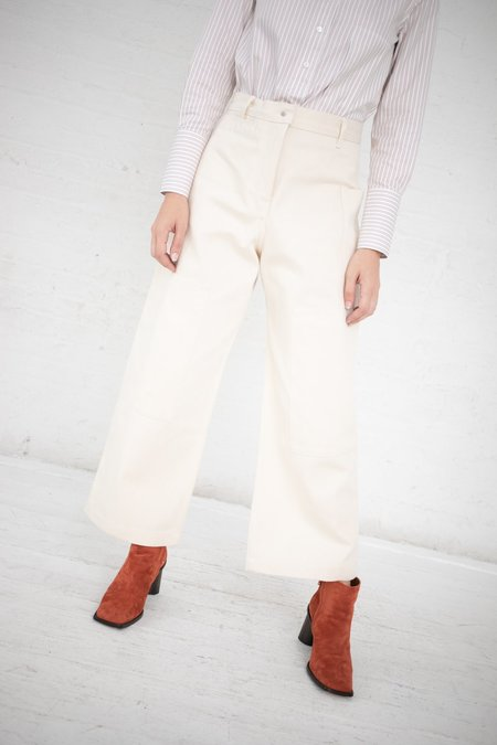 Studio Nicholson Panel Detail Selvedge Denim Utility Pants - Off White