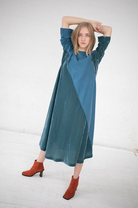 Bernhard Willhelm Velvet Dress - Teal Blue