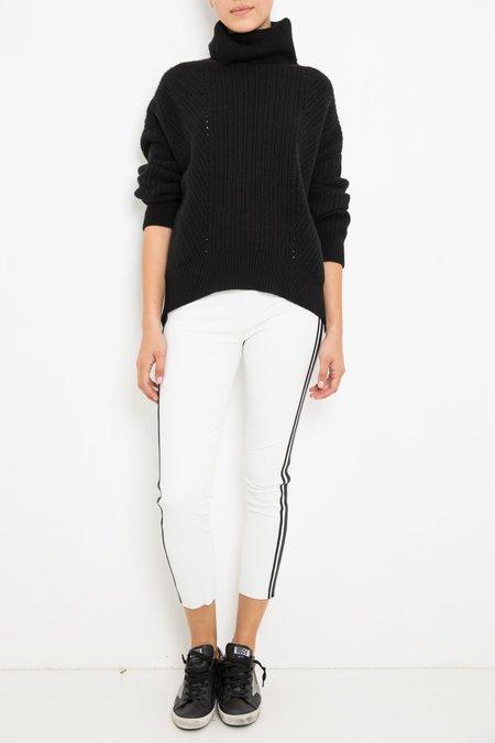 SPRWMN Capri Pants - White/Black Stripe