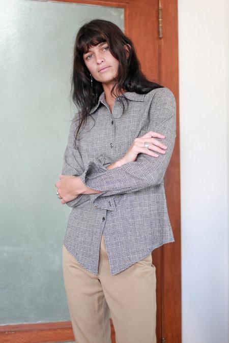 Town Clothes Mia Shirt - Glen Plaid