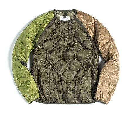 Eastlogue Quilted Sweat Jumper - Olive