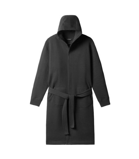 Wings + Horns Cabin Fleece Robe - Black