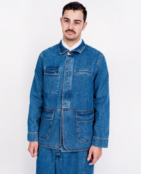 Henrik Vibskov Between Blazer - Blue Denim