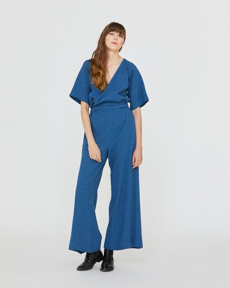 Esby DUFFY WIDELEG JUMPER - DENIM BLUE