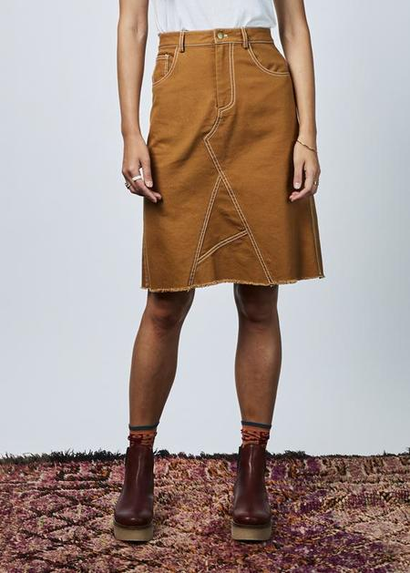 Harvey Faircloth Asymmetric Canvas Skirt - Amber