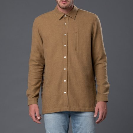 Grei Long Sleeved Flannel Boxy Shirt - Amber