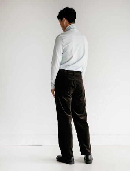 Auralee Washed Corduroy 5P Pants - Black Brown