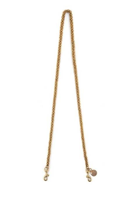 Clare V. Thick Chain Crossbody Strap - Brass
