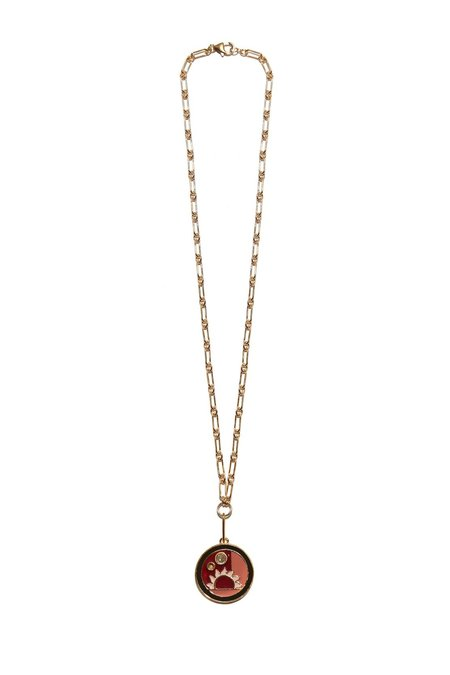 Lizzie Fortunato Fortune Necklace w/ Warm Sunrise - Gold/Pink Multi