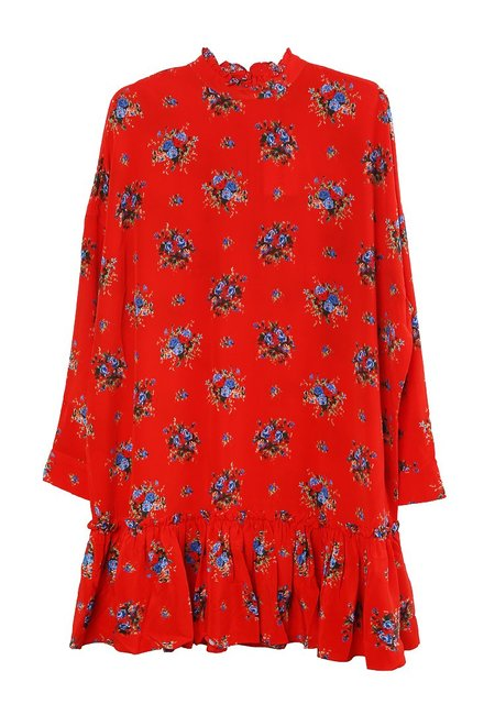 Ganni Kochar Mini Dress - Red