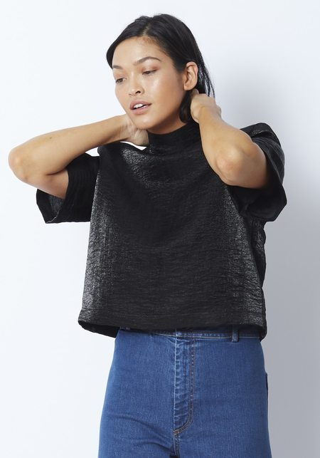 Kamperett Lise Top - Black Metallic