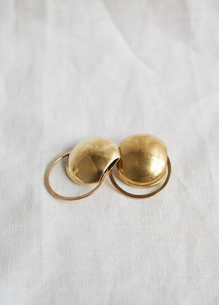 Lila Rice Aria Earrings - Brass