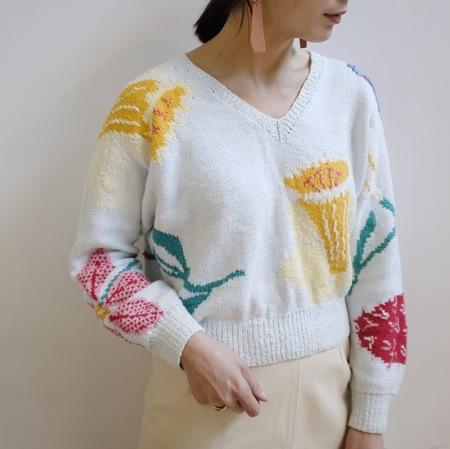 Hey Jude Vintage Botanical Knit Pullover