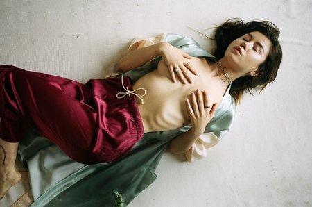 aleur Silk Roma Pants - rose