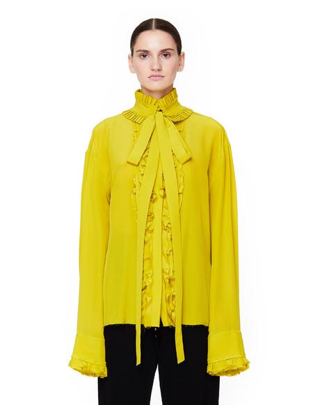 Haider Ackermann Ruffled Silk Shirt - Yellow