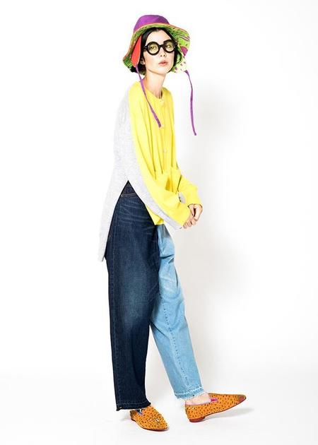 Tsumori Chisato Switching Denim Jeans