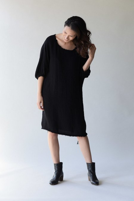 Raquel Allegra Gauze Dolman Dress - Black