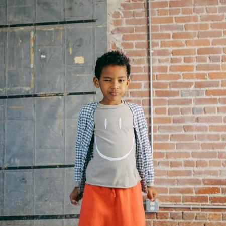 Kids Nico Nico Baby And Child Happy Long Sleeved T-shirt - Granite Grey