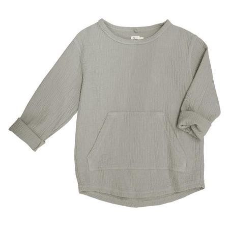 Kids Nico Nico Baby And Child Paz Quilted Sweatshirt - Granite Grey