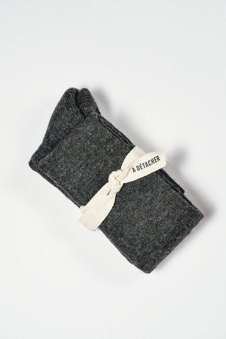 A Détacher Over the Knee Socks - Charcoal
