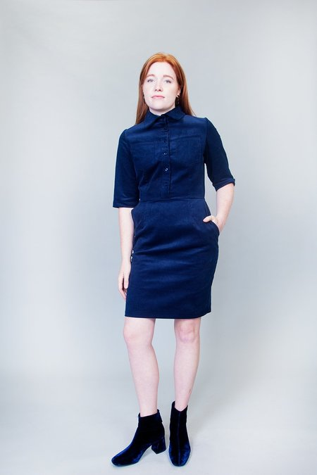 Jennifer Glasgow Heart Dress - Navy