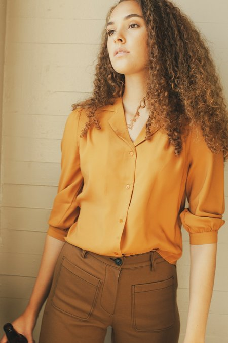 Side Party June Blouse - Burnt orange