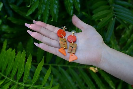 Ariel Kellogg Sunset Faces Earrings