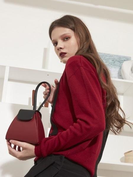 Atelier Park Color Block Handle Bag - Red