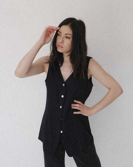 Kaleidos Vintage Studio Vest - Black