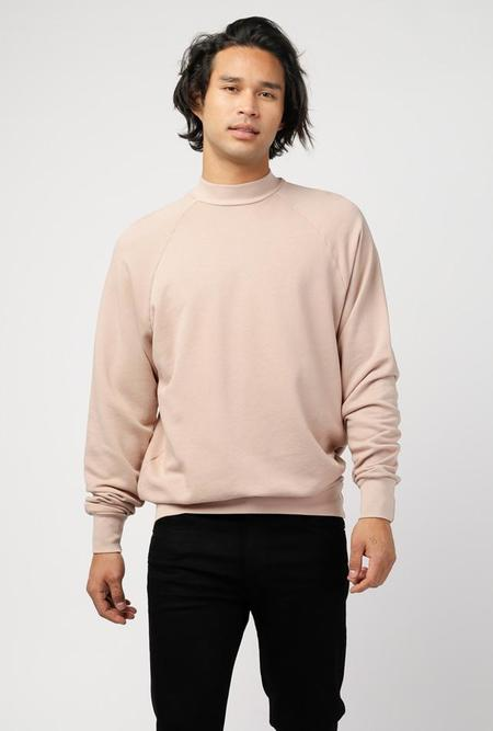 Les Tien Mock Neck French Terry Raglan Sweater