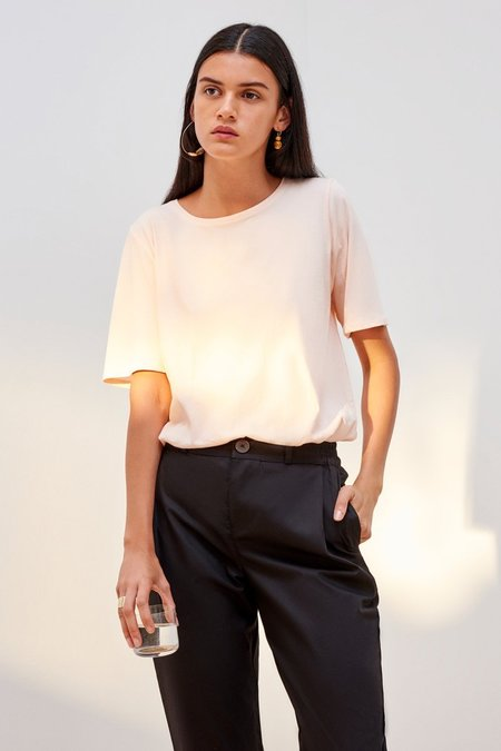 Kowtow Building Block Relaxed Tee - Light Pink