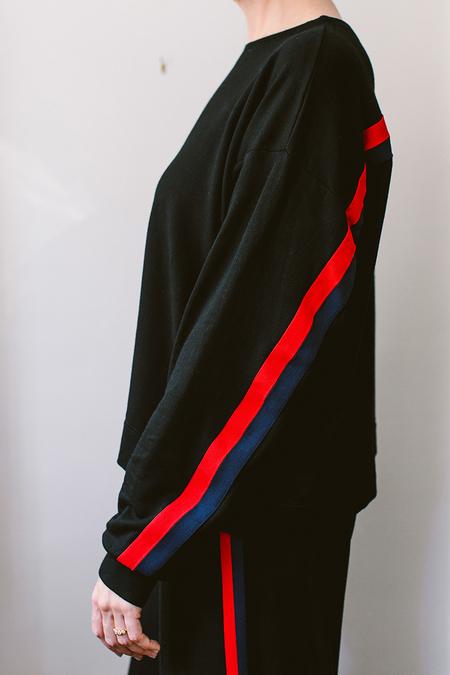 Velvet Racing Sweatshirt - Stripe