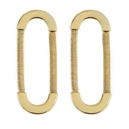 Luv AJ Snake Chain Loop Studs - Gold