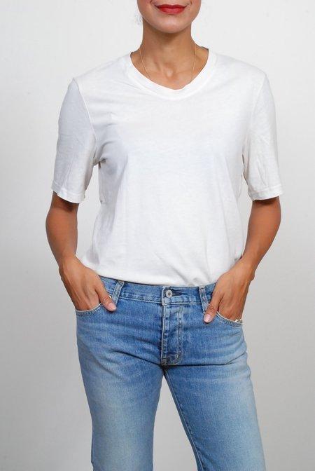 Raquel Allegra Boyfriend Tee - Dirty White