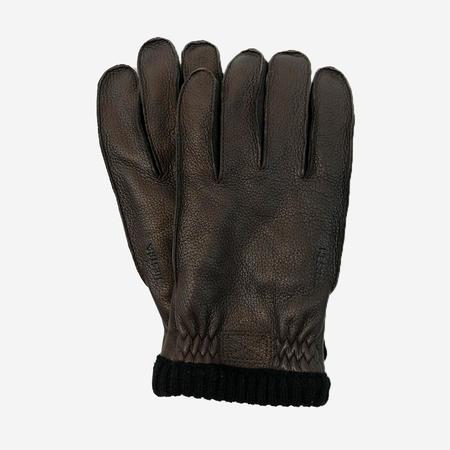 Hestra Deerskin Primaloft Rib Glove - Dark Brown