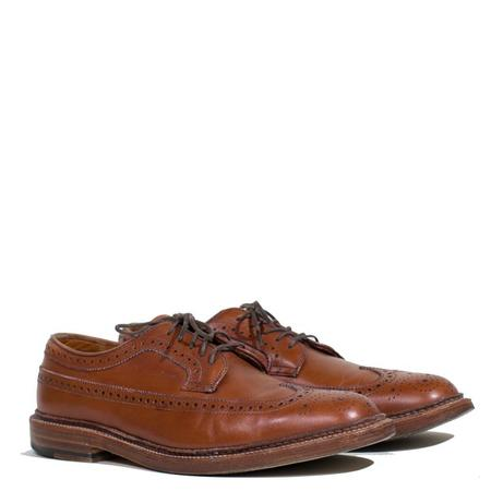 Vintage Alden Barrie Calf Longwing Blucher - Tan