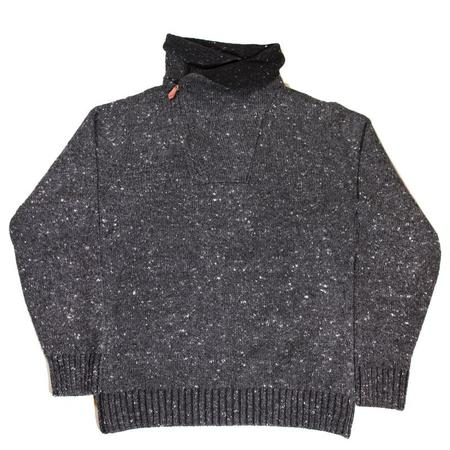Inis Meáin Cowl Zip Knit Sweater - Fumo