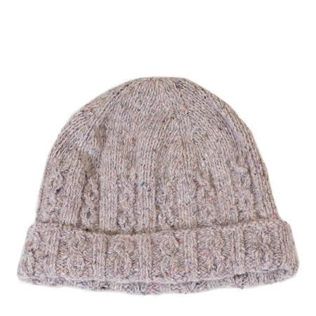 Inis Meáin Donegal Cable Knit Hat - Oatmeal