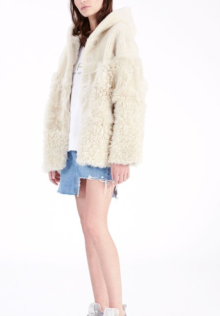 IRO So Shearling Jacket - Natural White