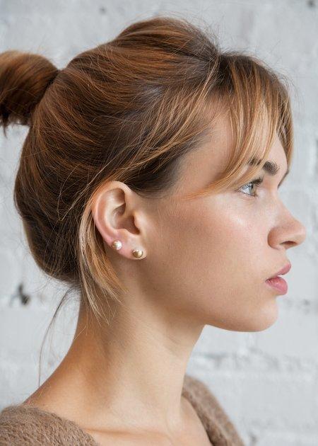 Shihara Half Pearl Earring 90°
