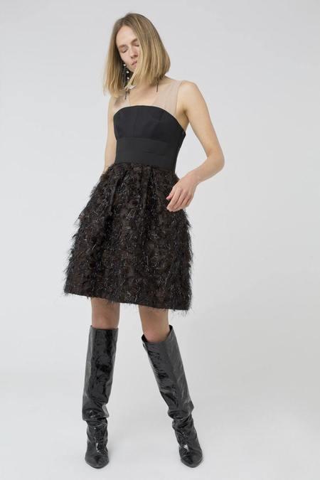 Dorothee Schumacher Dazzling Shimmer Dress - Dark Ebony