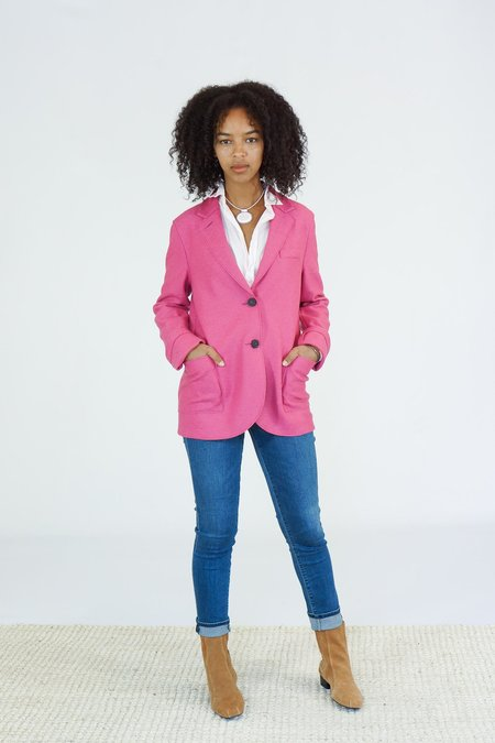 Harris Wharf London Pressed Wool Boyfriend Blazer - Bubble Pink