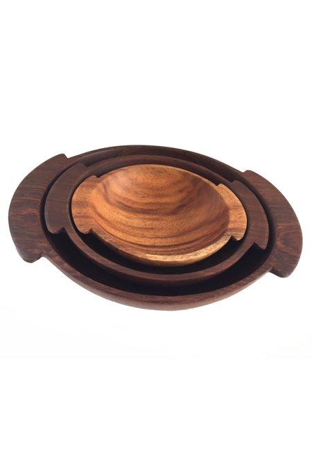 Itza Wood Nesting Bowl Set
