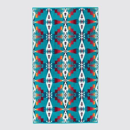 Pendleton Oversized Jacquard Towel - Tucson Turquoise