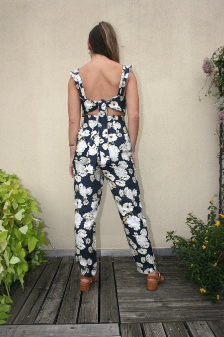 SIR the Label Bellagio Linen Jumpsuit - Floral Print