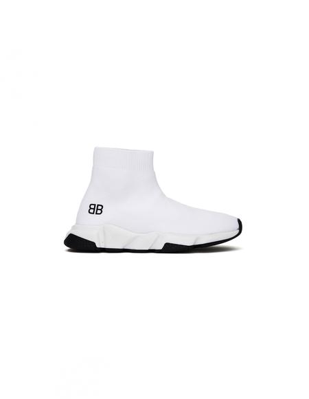 Kids Balenciaga BB Speed Trainers - White