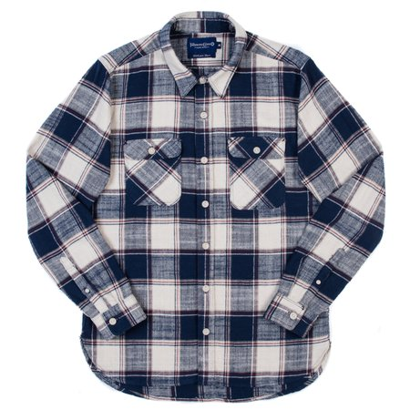 Freenote Cloth Jepson Shirt - Navy Plaid