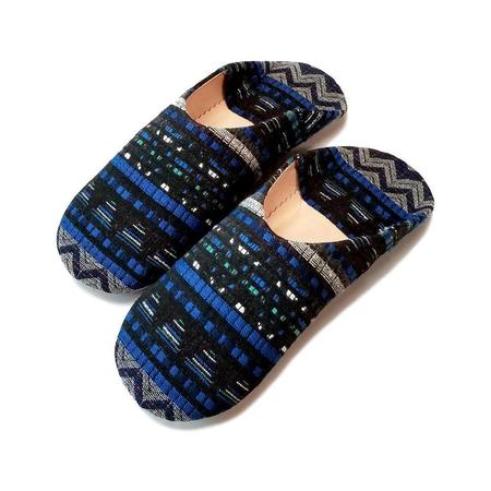 Socco Jay Moroccan Babouche Slipper - Blue
