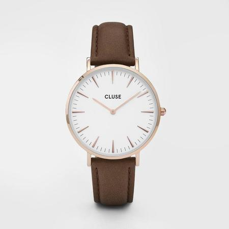 CLUSE LA BOHEME CL18010 WATCH - ROSE GOLD/WHITE/BROWN