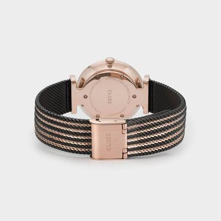 CLUSE TRIOMPHE CL61005 WATCH - MESH BICOLOUR OR ROSE/BLACK/BLACK